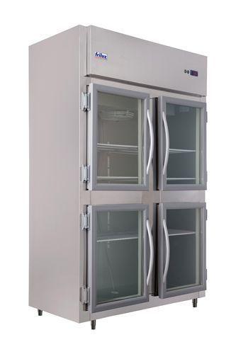 Geladeira Comercial Inox Interno e Externo 4 Portas de Vidro Frilux