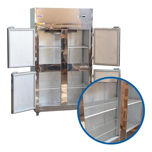 Geladeira Comercial 4 Portas em Inox + Rodizio  Frilux