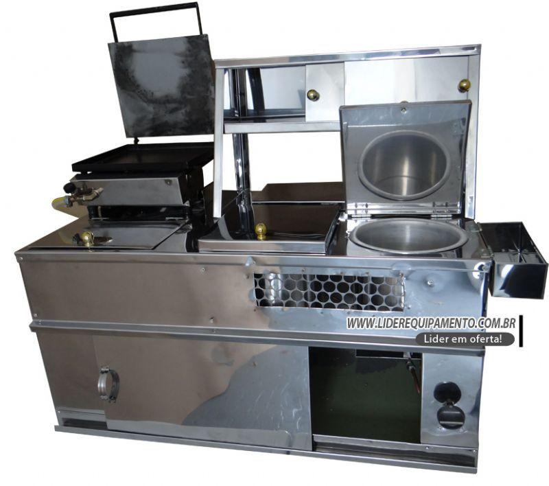 Kit Universal para Carro Hot Dog em Inox Lider