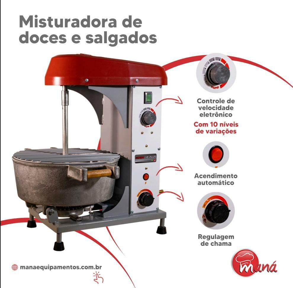 Misturador e Cozedor de Massas Doces e Salgadas MDCM-12 Litros Maná