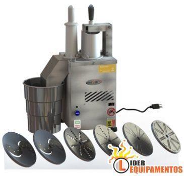 Processador de Alimentos com 6 Discos Inox Motor de 1/2 CV Becker