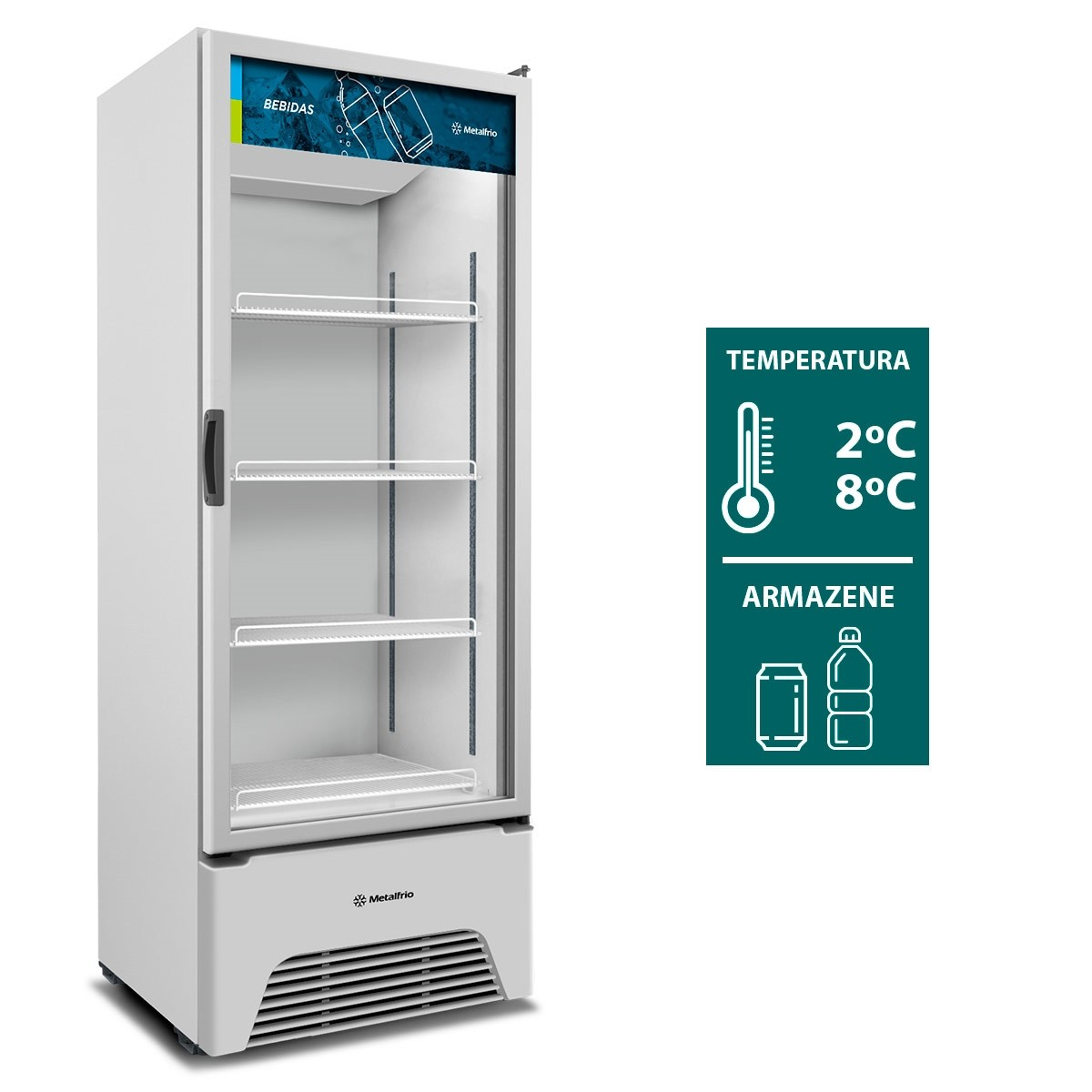Refrigerador Expositor 497 Litros VB52AH Optima Metalfrio