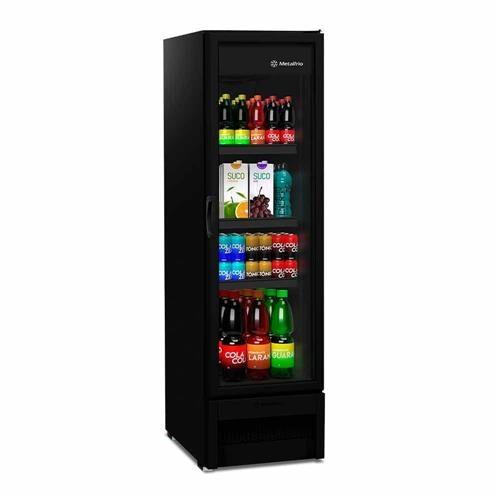 Refrigerador Expositor Slim VB28RH 324 Litros All Black Metalfrio
