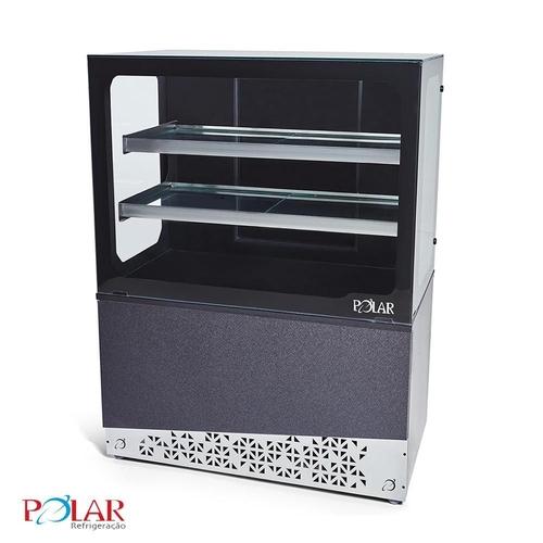 Vitrine Refrigerada BGVR 100 mm Linha Black Gourmet Polar