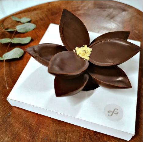 Mini Flor de Chocolate (8 Pétalas)