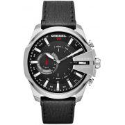e29a30977b28b Relógio Diesel Mega Chief Híbrido Smartwatch DZT1010 Couro Preto