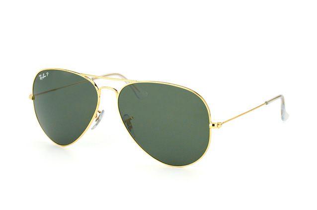 fc1fc862c Óculos De Sol Ray Ban Aviador Rb3025 Dourado Lente Verde