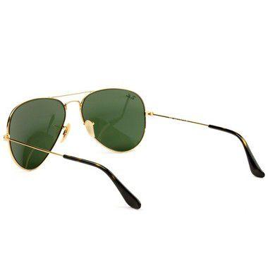 295646ac59d0f ... Óculos De Sol Ray Ban Aviador Rb3025 Dourado Lente Verde - New Store ...
