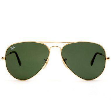 0949fdce485a5 ... Óculos De Sol Ray Ban Aviador Rb3025 Dourado Lente Verde - New Store