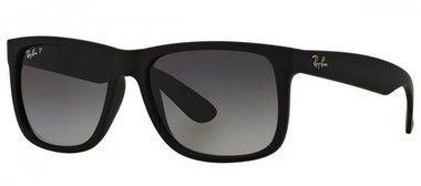 d9cb0acae Óculos De Sol Ray Ban Justin Rb4165l Preto Fosco Polarizado
