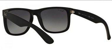 300fc897c0a6e ... Óculos De Sol Ray Ban Justin Rb4165 Preto Fosco Polarizado ...