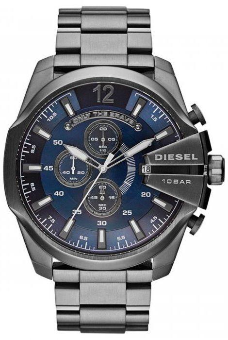 88a774732ed67 Relógio Diesel DZ4329 Mega Chief Preto Fundo Azul - New Store ...
