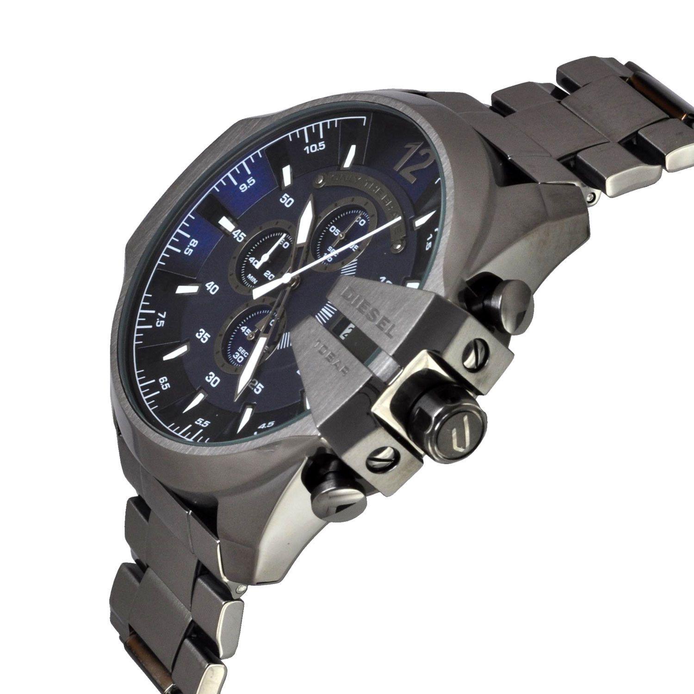 45acc3567699b ... Relógio Diesel DZ4329 Mega Chief Preto Fundo Azul - New Store ...