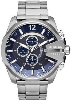 f26104d571e03 Relógio Diesel Dz4417 Mega Chief Prata Fundo Azul - New Store ...