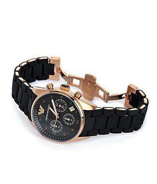 eb682957376 ... Relógio Emporio Armani AR5905 em Aço Inoxidável Silicone Preto - New  Store ...