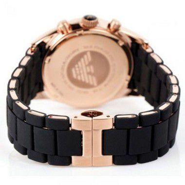 ba6617d41 Relógio Emporio Armani AR5905 em Aço Inoxidável Silicone Preto