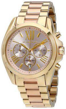 2dd8d0ca1c090 Relógio Michael Kors MK6359 Dourado Fundo Rosa - New Store ...