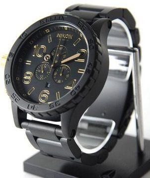 6099744e4 Relógio Nixon 51-30 A083 1041 Chronograph Preto Dourado - New Store ...