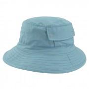 Chapéu Bucket 2 com bolso Street Style Tecido Azul Claro