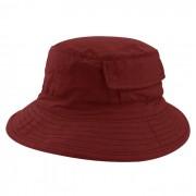 Chapéu Bucket 2 com bolso Street Style Tecido Leve Vermelho