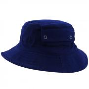 Chapéu Bucket em Brim Leve Azul Marinho com Bolso San Doná. REF.: 091.00.06.024