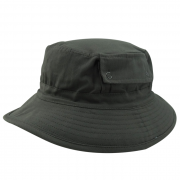 Chapéu Bucket em Brim Leve Cinza com Bolso San Doná. REF.: 091.00.06.054