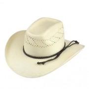 Chapéu Country Cavaleiro II Shantung Branco Renda Aba Alta 10 cm