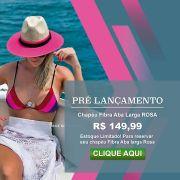 Chapéu Praia Feminino Amapola Fibra Aba ROSA TENDENCIA 2020
