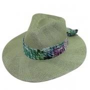 Chapéu Rock Sport UV 50+ de Algas Verdes com Faixa Florida de Verão