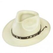 Chapéu Social Shantung Branco Aba 5cm