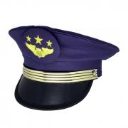 Quepe Militar Modelo Aeronáutica Brasileira Azul Com Brasão
