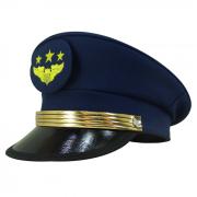 Quepe Militar Modelo Aeronáutica Brasileira Azul Com Brazão