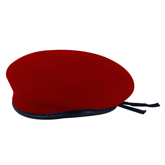 Boina Militar II Vermelha Feltro