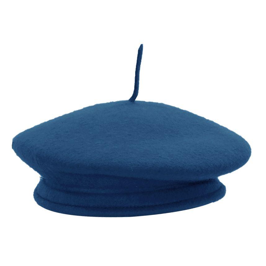Boina Recoluta Feltro Azul Celeste