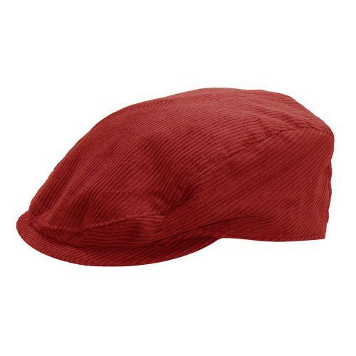 Boina Trapani Inverno Veludo Vermelha