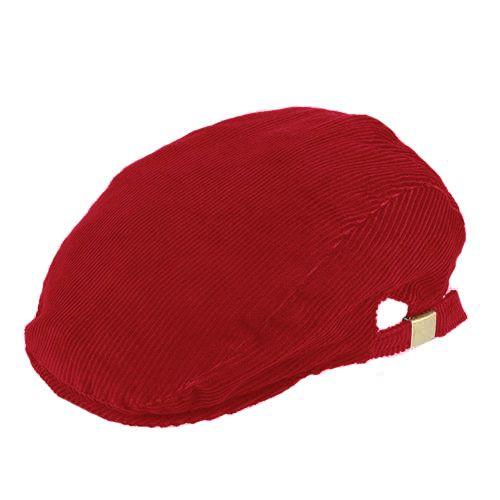 Boina Verona Inverno Veludo Vermelha Regulador Lateral