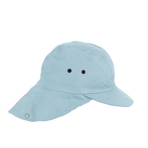 Boné Pescador com Folho e Proteção de Nuca Azul Claro II