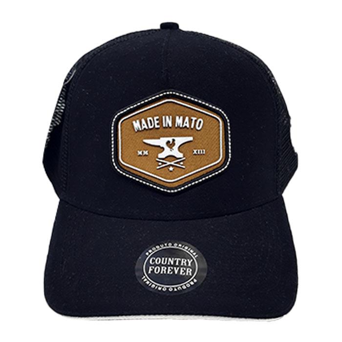 Boné Trucker Preto Made in Mato Preto