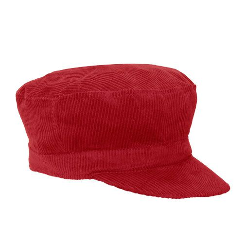 Cap Mariner Veludo Vermelho Masculino Feminino Inverno