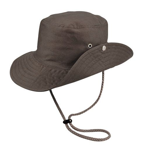Chapéu Australiano Trilha Cinza Escuro Tecido Leve San Doná REF.: 039.00.06.054