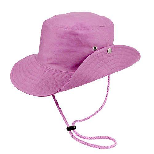 Chapéu Australiano Trilha Rosa Tecido Leve