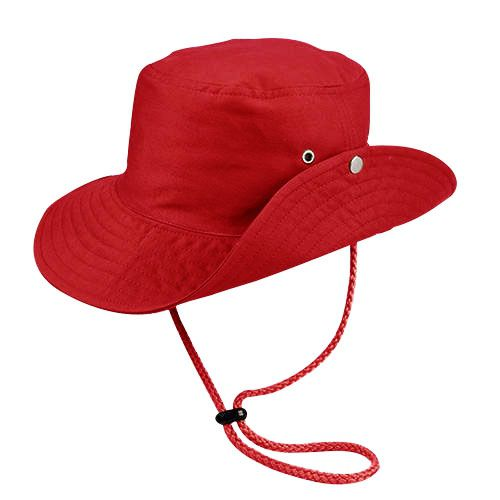 Chapéu Australiano Trilha Vermelho Tecido Leve