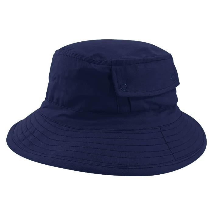 Chapéu Bucket 2 com bolso Street Style Tecido Leve Azul Marinho