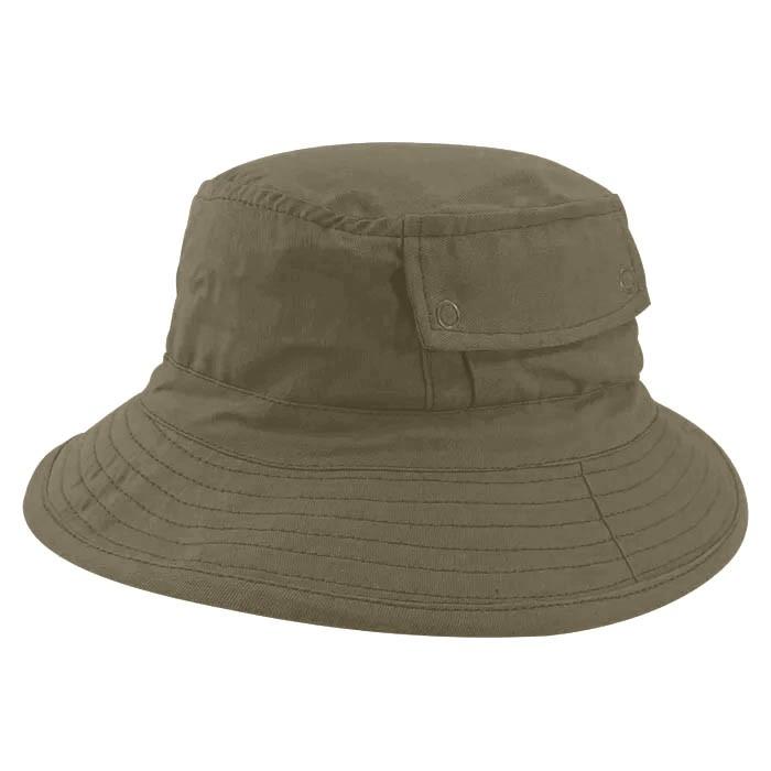 Chapéu Bucket 2 com bolso Street Style Tecido Leve Bege