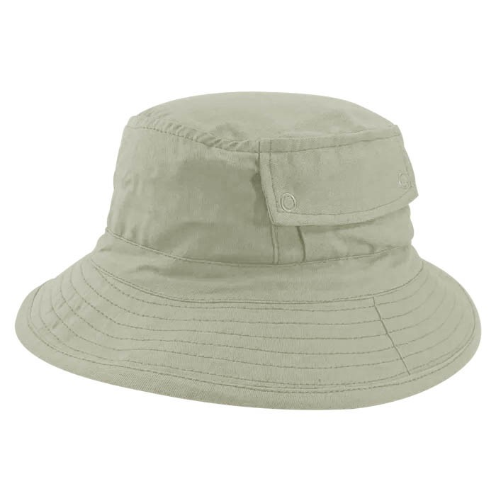 Chapéu Bucket 2 com bolso Street Style Tecido Leve Creme