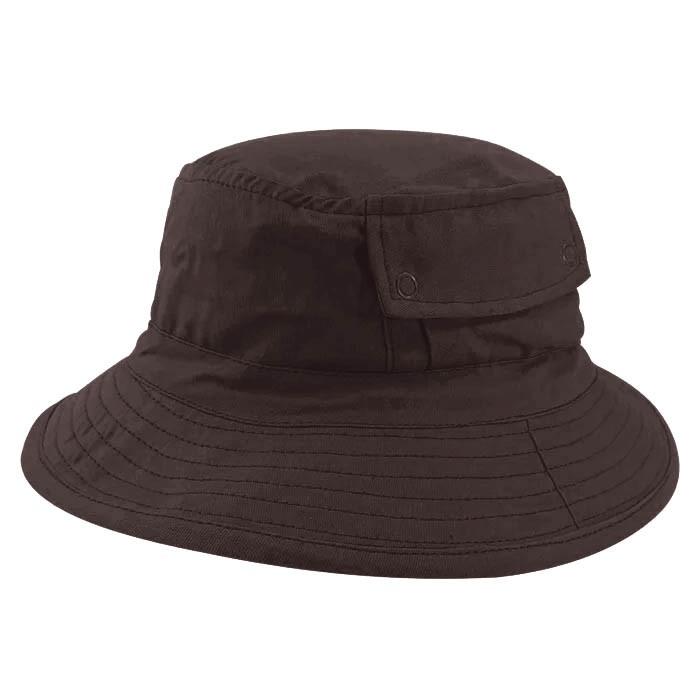 Chapéu Bucket 2 com bolso Street Style Tecido Leve Marrom
