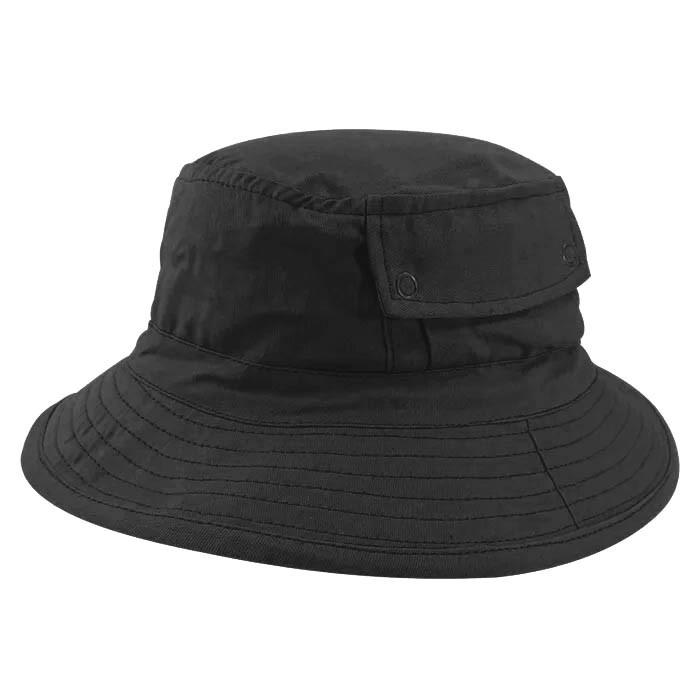 Chapéu Bucket 2 com bolso Street Style Tecido Leve Preto