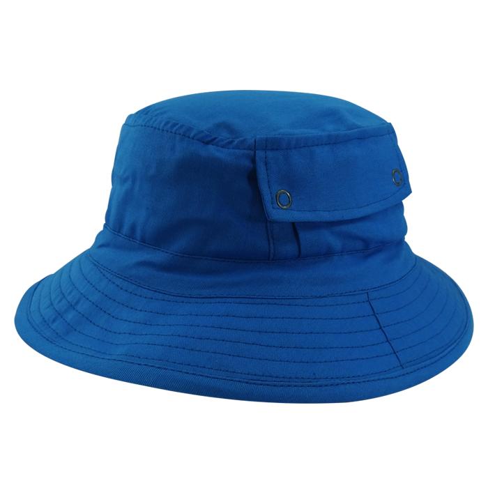 Chapéu Bucket em Brim Leve Azul com Bolso San Doná. REF.: 091.00.06.089
