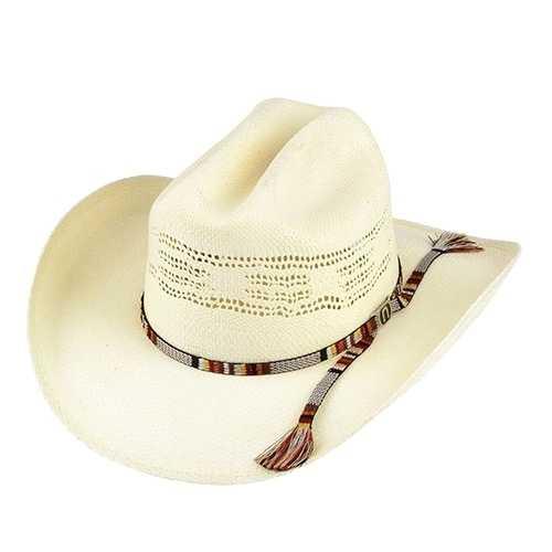Chapéu Country Bangora Branco  Aba 10 cm