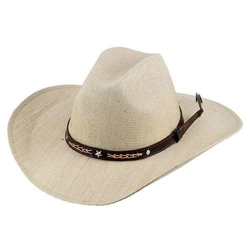 Chapéu Country Brete Fibra Natural Fita de Recouro Aba 10cm REF:002.09.13.001